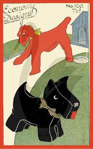 Vintage Reproduction Scottie Dog & Terrier Economy Design Pattern