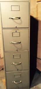 Filing Cabinet - 4 drawer. Sturdy, smooth, excellent condition.