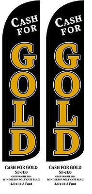 Cash For Gold Two2 Windless Swooper Feather Flag Kits Wpole Ground Spikes