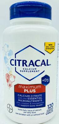 maximum plus vitamin d3 calcium caplets 120