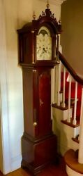 GORGEOUS Henry Ford Museum 'Simon Willard' Mahogany Grandfather Clock, by Sligh!