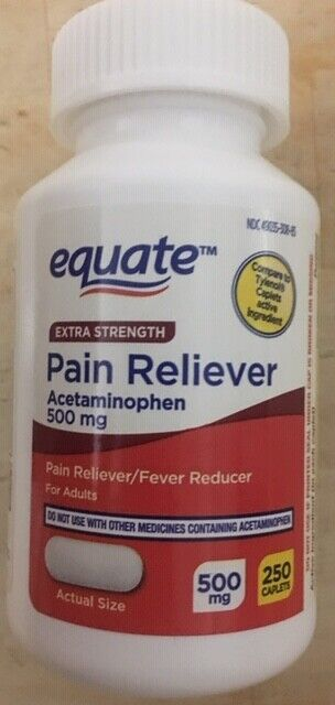 EQUATE Extra Strength Pain Reliever Acetaminophen - * Compa