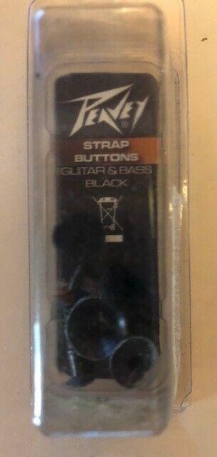 guitar bass strap buttons black