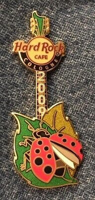 Hard Rock Cafe Guitar Pin ~ 2009 Cologne ~ Lady Bug ~ HRC