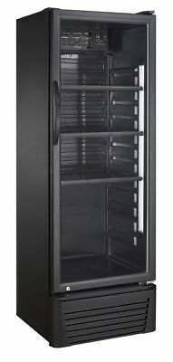 OW Getränkekühlschrank mit 336 Litern Volumen und Glastür Schwarz
