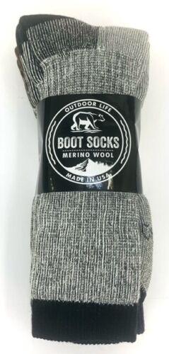Merino Wool(71%) Boot Socks - 3 pair