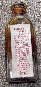 Vintage Parke's Catsup Flavor bottle, good condition, $10