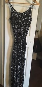 RW & CO black and white maxi dress - BRAND NEW with Tags