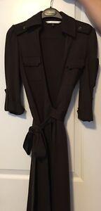 DIANE VON FURSTENBERG - Dark Brown WRAP DRESS