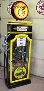 Kustom Indian Motorcycle Gas Pump Display Cabinet, Petro