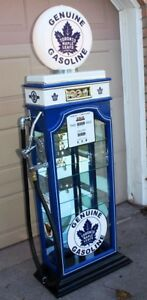 TORONTO MAPLE LEAFS GAS PUMP DISPLAY CABINET