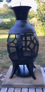 "24"" Wood Burning Chiminea Outdoor Fireplace"