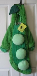 Peapod Green Peas Infant Bunting Halloween Costume 0-6 M NEW