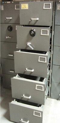 Safe Heavy Duty Mosler Gsa 5 Drawer File Cabinet Combination Lock 600 Lbs Nice