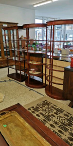 Wood/Glass Shelving / bookcase units $120 each Three available