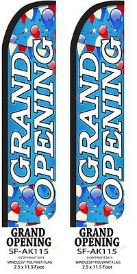 Grand Opening Wballoons Two2 Windless Feather Flag Kits Wpole Ground Spike