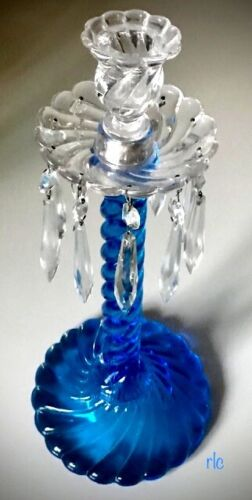 "FOSTORIA Queen Anne #2412 BLUE 14 /12"" Lustre (sometimes called Fostoria Colony)"