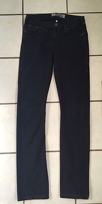 1921 Jeans Women's Black Cotton/Spandex Skinny Jeans w/ Contrast Stitching 26/29 1921 Jeans Cotton Jeans