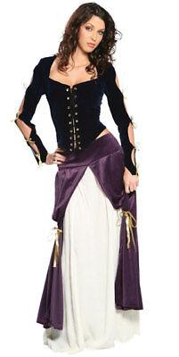 LADY MUSKETEER Costume Faux Suede Dress Top Peasant Skirt Large 14 16 Muskateer](Muskateer Costume)