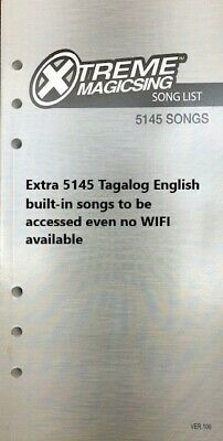 NEW MAGIC SING Karaoke E5+ 5145 Tagalog/Eng songs WiFi 2 Wireless Mic 1YR sub