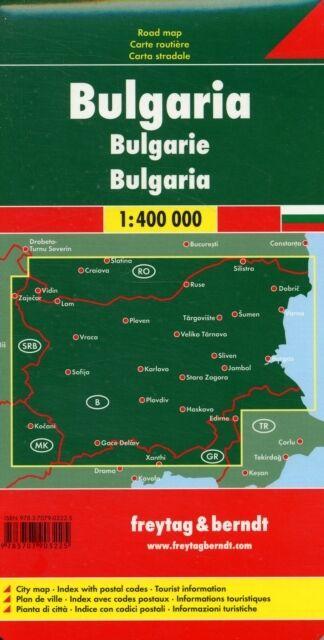 Bulgaria Road Map (Freytag & Berndt Road Map) (Road Maps) (Map), . 9783707903225