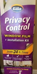 PRIVACY CONTROL WINDOW FILM INSTALLATION KIT, NEW