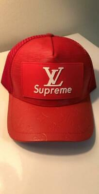 Louis Vuitton LV Supreme Cap Snap back HAT RED monogram Unisex