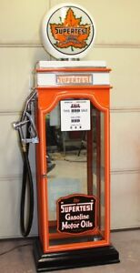 KUSTOM SUPERTEST DISPLAY CABINET, VINTAGE PETRO GAS PUMP