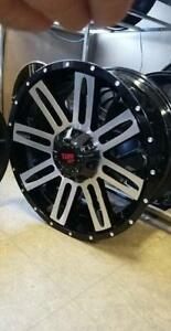 "NEW! 20"" black/machined face - F150 1500 gmc chevy ford nissan titan toyota 4runner - 8006"