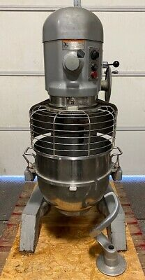 Hobart H600t 60 Quart Mixer With Ss Bowl Bowl Guard Dough Hook Works Great
