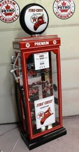Texaco Fire Chief Display Cabinet, gas pump, Vintage gas, Petro