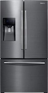 BLACK STAINLESS STEEL FRIDGE WITH TWIN COOLING PLUS SYSTEM RF263BEAESG (SAM507)