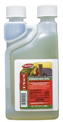 Martin's Permethrin 10% 8 oz. Fleas Lice Ticks Mange roaches and so much more!