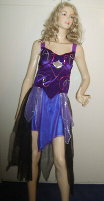 Fancy Dress Arabian Nights (LADIES PURPLE ARABIAN NIGHTS BELLY DANCER FANCY DRESS COSTUME S/M)