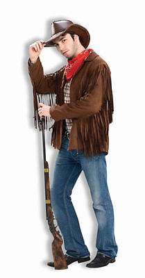 Fringed Jacket Western Style Or 60's Easy Rider Hippie Poly Suede Lined Jacket - Easy 60s Costume