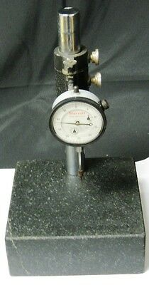Starrett No. 25-631 Dial Indicator With Granite Stand 1.000 Range .0005