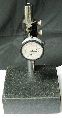Starrett No. 25-631 Dial Indicator With Granite Stand 1.000 Range .0005