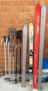 Girl skis and poles assortment
