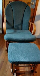 Sliding Rocking Chair and Footstool