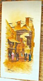 Arabian scene market Oil Painting