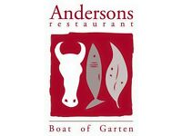 ****Experienced Chefs Required**** Andersons Restaurant, Boat of Garten,