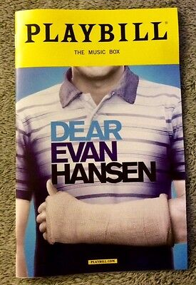 Dear Evan Hansen playbill - *Brand New!* *Free Gift!* *Free same day shipping!*