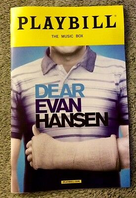 Dear Evan Hansen playbill! OBC! *Ben Platt's Final Show!* Free, quick shipping!