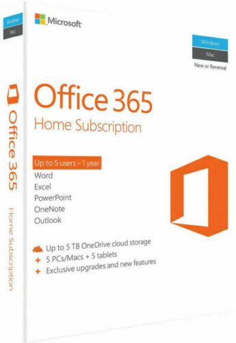 Microsoft Office 365 Home/Family Premium 1 Year