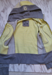 Lululemon Athletica Special Edition Yellow Gray Scuba Hoodie Sz6