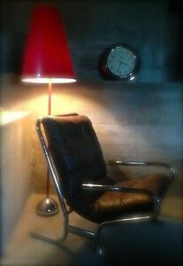 Chrome & Leather Lounge Chair
