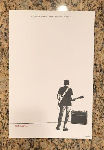 Beatles Paul McCartney Pepsi Center Denver November 1st 2005 Denver Poster LE