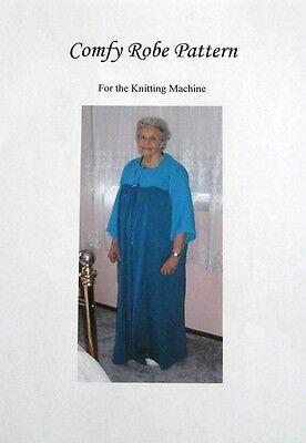 Wonderful ROBE knitting machine pattern!
