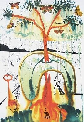 Mad Tea Party, Limited Edition Offset Lithograph, Salvador Dali