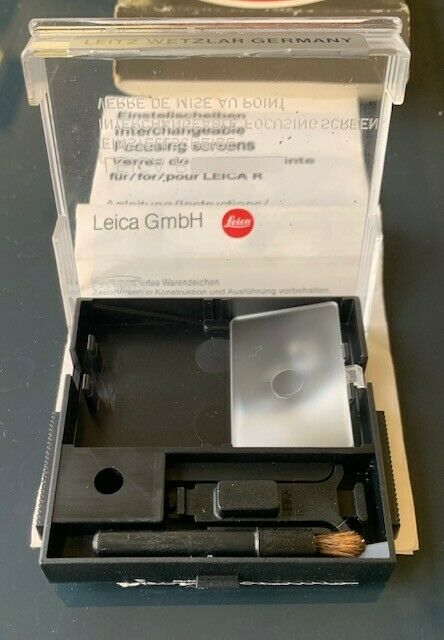 Leica focusing screen 14304 ground glass f/ Leica R4 leitz wetzler.